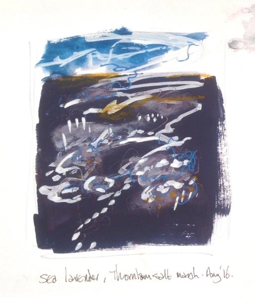 Thornham Saltmarsh, sketchbook.