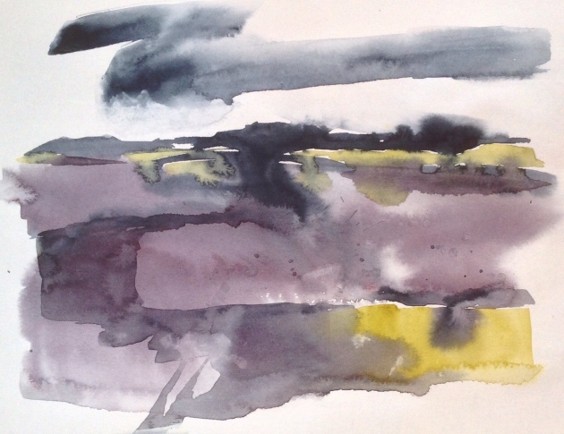 Sea lavender, Thornham. Sketchbook © Mari French 2016