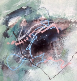 Depths and shallows Mixed media on paper 20x20cm