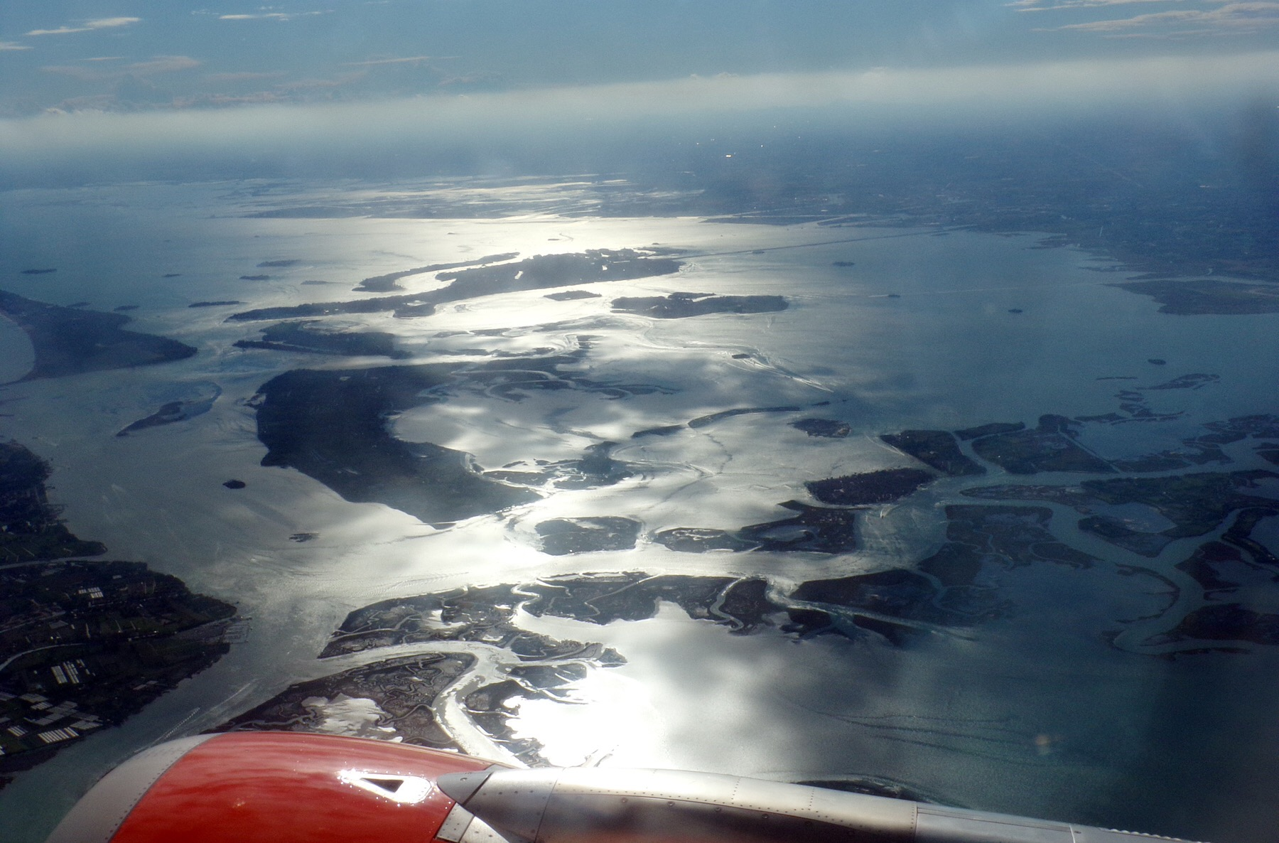 Venetian lagoon, taking off from Marco Polo airport. © Mari French 2016