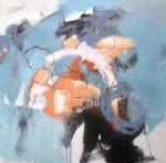 Resonance, mixed media on canvas, 70x70cm © Mari French 2017