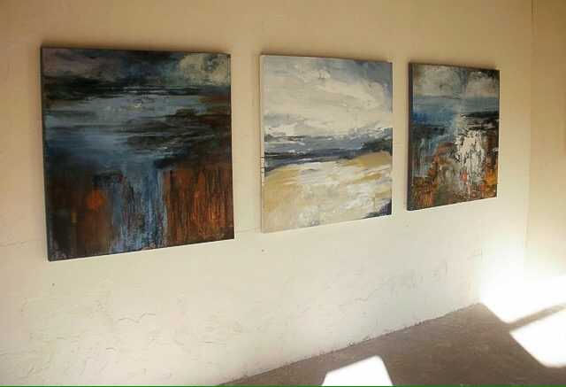 Work by Tracey Ross at 'Painters' exhibition, Black Barn, Cockley Cley, 2017.
