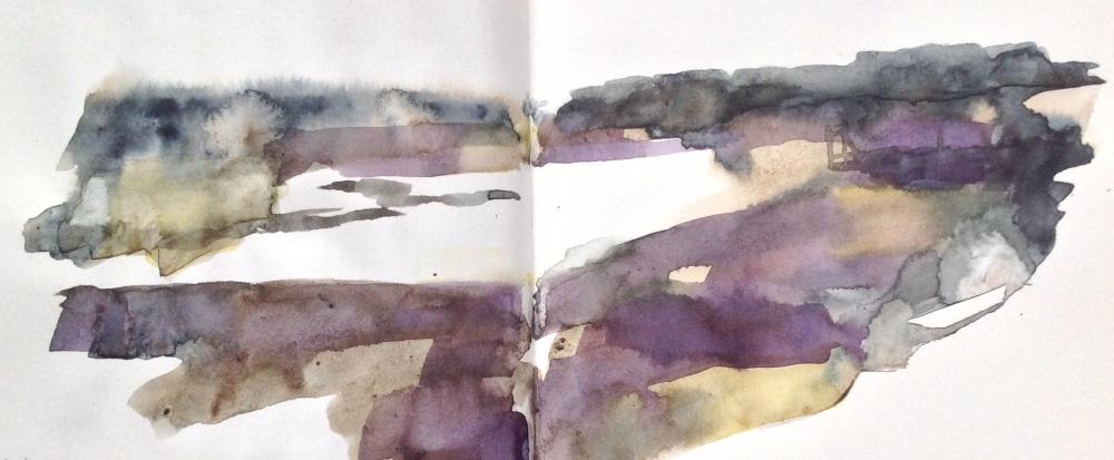 Sea lavender sketch, Thornham saltmarsh