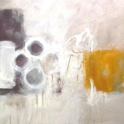 White Cross (mixed media) © Mari French 2018