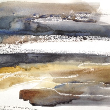 Stormy sky from Castleton Rigg, North York Moors, Sketchbook. © Mari French 2019