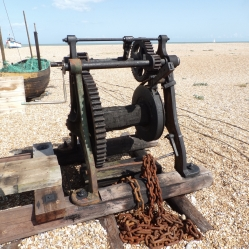Old fishing boat winch, Dungeness.© Mari French 2019