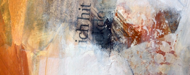 Cropped detail from Dungeness mixed media painting