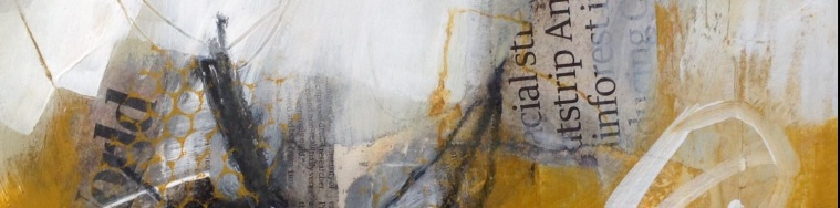 Cropped detail of mixed media Dungeness artwork