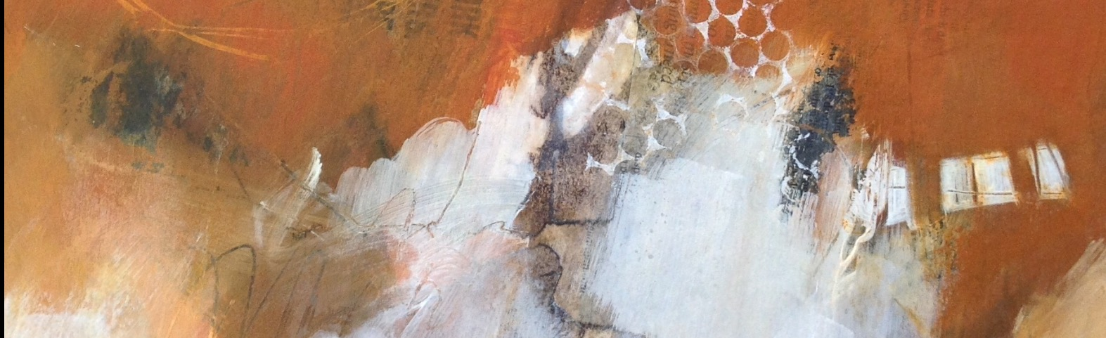 Cropped detail from mixed media Dungeness painting